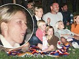 The 44-year-old actress and her longtime partner took their children Alexander, 6, and Samuel, 4, along with some friends for a viewing in the park on Saturday night in the upscale township of New York