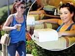 Alyson Hannigan bares the heat in tank and skinny jeans as she pampers herself with a manicure and caffeine fix in Los Angeles on Monday