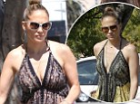 If it ain't broke! Jennifer Lopez plays with fashion fire by wearing the same dress two days running