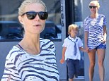 Gwyneth Paltrow heads out with her son Moses