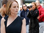 How do you do that? Helen Hunt directs herself as she shoots a scene for her new movie ride
