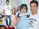 Follow the 3D yellow brick road! Mario Lopez's daughter Gia, three, dresses up as Dorothy to attend modernized Wizard of Oz premiere... 74 years after its first release
