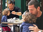 Daddy's little princess: Adam Dell showers his daughter Krishna with affection during luxurious lunch after settling bitter custody battle with Padma Lakshmi