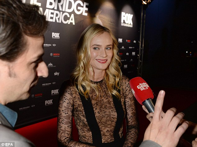 Promotional duties: She had come straight from the Venice Film Festival where she enjoyed some time with her boyfriend Joshua Jackson