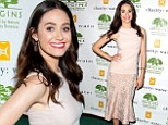 Emmy Rossum highlights delicate curves in pink pencil skirt at charity: water benefit