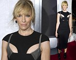 Keeps getting younger! Toni Collette donned a figure-hugging, cut-out dress as she attended a screening of Enough Said at The Paris Theater in New York City on Monday