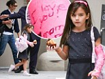 Suri Cruise's pink cast reveals special 'I love you' message from mother Katie Holmes