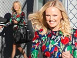 Actress Malin Akerman stuns in sequined floral dress for Jimmy Kimmel Live appearance on Monday
