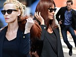 Connie Nielsen switches hair colour in an instant from redhead to blonde on the set of The Following with Kevin Bacon