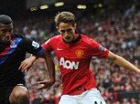 Prospect: Adnan Januzaj (right) impressed from the substitutes' bench against Crystal Palace