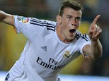 Instant impact: Bales slid the ball home from close range on his Real Madrid debut against Villarreal