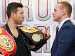 You pointing at me: Froch and Groves share a few words of wisdom at their tasty press conference