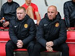 Back in the fold: Paul Scholes (left) with Nicky Butt at the Man United UEFA Youth game on Monday