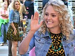 AnnaSophia Robb rocks yellow patterned frock on The Carrie Diaries set after admitting she's 'morphing more into' her character
