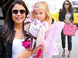 Bethenny Frankel plasters on a carefree smile to pick up cute daughter Bryn from preschool as bitter custody battle heats up