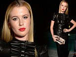 Showing her fashion credentials: Ireland Baldwin dons skintight leather dress for DSquared2 party at Milan Fashion Week