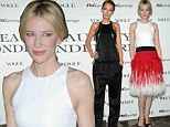 Cate Blanchett charms in feathery red and white frock while Blake Lively goes dramatic in glittery jumpsuit at fashion event in Milan