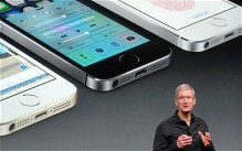 Apple chief executive Tim Cook talks through the new iPhone 5S, featuring iOS 7.
