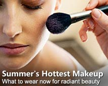 Summer's Hottest Makeup // Woman having blush applied (© Royalty-Free/Corbis)