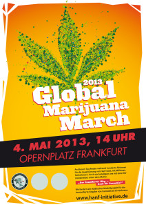 Poster Grafik des Global Marijuana March Frankfurt am Main, Deutschland