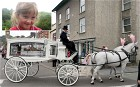 April Jones's coffin arrives at St Peter's Church, Machynlleth, ahead of her funeral service