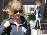 Taylor Swift looks drab as she goes to the gym in Los Angeles