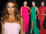 She couldn't pick just one! Eva Longoria wears EIGHT different dresses while hosting the ALMA Awards