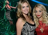 Kate Upton takes the plunge in skintight dress as she joins red-hot Rita Ora at star-studded Las Vegas bash