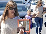 Time to get spooked! Jennifer Garner and daughter Violet go shopping for Halloween books in Brentwood