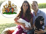 Kate and Wills' conjugal coat of arms: Royal couple get new marital insignia
