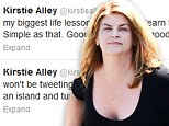 'Evil feeds on goodness': Kirstie Alley appears to lash out at Scientology critics in Twitter rant