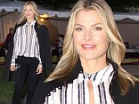 Ali Larter demure in understated ensemble while promoting her new book at the Baltimore Book Festival