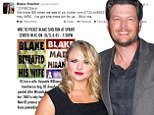 Blake Shelton mocks Westboro Baptist Church in series of hilarious tweets after it threatens to picket his concert and labels him an adulterer for divorcing his first wife