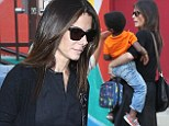 It's mommy time now! Sandra Bullock enjoys jewellery shopping trip and lunch outing after dropping little Louis at school