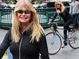 Two wheelin'! Goldie Hawn, 67, shows off her incredible figure while bicycle riding through New York City
