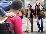 Awkward! Jennifer Connelly kisses co-star Anthony Mackie on set of homeless film Shelter... which her real-life husband is directing