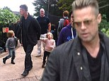 It's a small world! Brad Pitt takes twins Knox and Vivienne for a day out at Legoland Windsor
