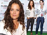 So nice she wore it twice! Katie Holmes goes party hopping in the same casual chic look
