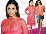 Sheer madness: Eva Longoria wore a see-through lace dress as she hosted her annual Eva Longoria Foundation dinner at her restaurant Beso in Hollywood, California on Saturday