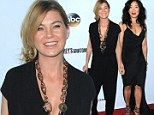 Ellen Pompeo dons unflattering jumper while Sandra Oh takes the plunge in low-cut frock at Grey's Anatomy 200th episode party