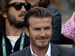 Unconcerned: David Beckham has said Manchester United will quickly get back to the top