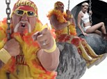 Hulk Hogan wears a thong as he spoofs Miley Cyrus' Wrecking Ball video in hilarious new commercial
