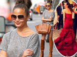 'The red!' Chrissy Teigen reveals glimpse of showstopping THIRD Vera Wang gown then hits the town in thigh high boots