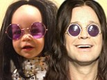 'The Princess of Darkness'! Jack Osbourne's daughter Pearl looks JUST like grandad Ozzy in a black wig and purple glasses