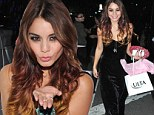 Vanessa Hudgens scores good karma and swag at Donate With A Kiss charity event for breast cancer research