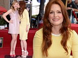 A radiant Julianne Moore is joined by co-star Chloe Moretz at Hollywood Walk Of Fame ceremony