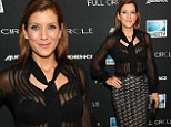 Kate Walsh flashes her bra in sheer blouse for her return to the small screen on DirecTV's Full Circle