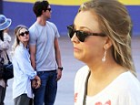 Parting is such Sweet sorrow! Kaley Cuoco clings to fiancé Ryan Sweeting as he pays her a visit on the set of The Wedding Ringer
