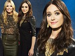 Lights, camera, fashion! Emmy Rossum joins Hedi Klum as a guest judge on Project Runway