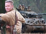Brad Pitt and Shia LeBeouf head back to work on set of new movie Fury as Oxford villagers warned to expect 'intermittent gunfire'